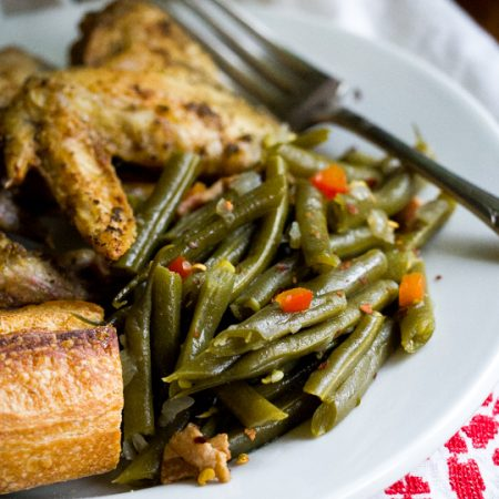 Slow Cooked Green Beans