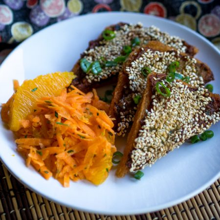 Vietnamese Lemongrass Shrimp Toast