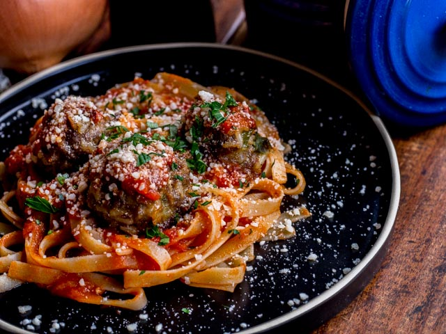 Cajun Meatballs and Spaghetti