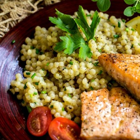 Lemon and Herb Infused Israeli Couscous