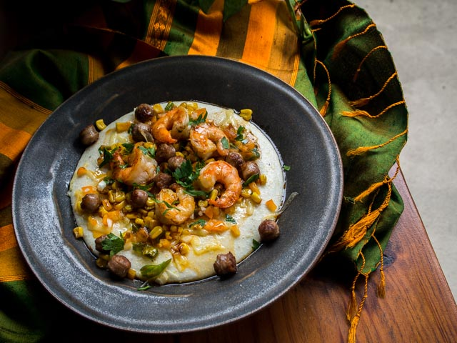 Loaded Grits with Brown Butter
