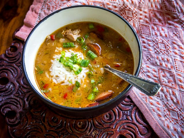 Duck and Andouille Sausage Gumbo